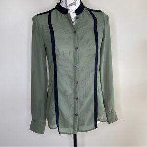 Kardashian Kollection sheer button down shirt